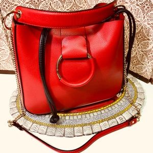 Zara TRF NWOT red purse. Trendy, gorgeous !!!